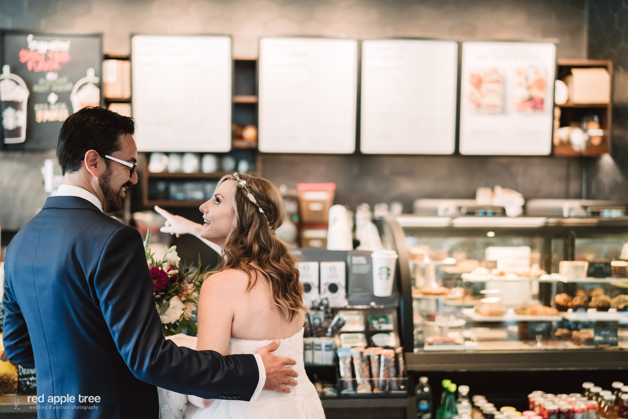 What's a complete wedding day without a quick stop by Starbucks?!?