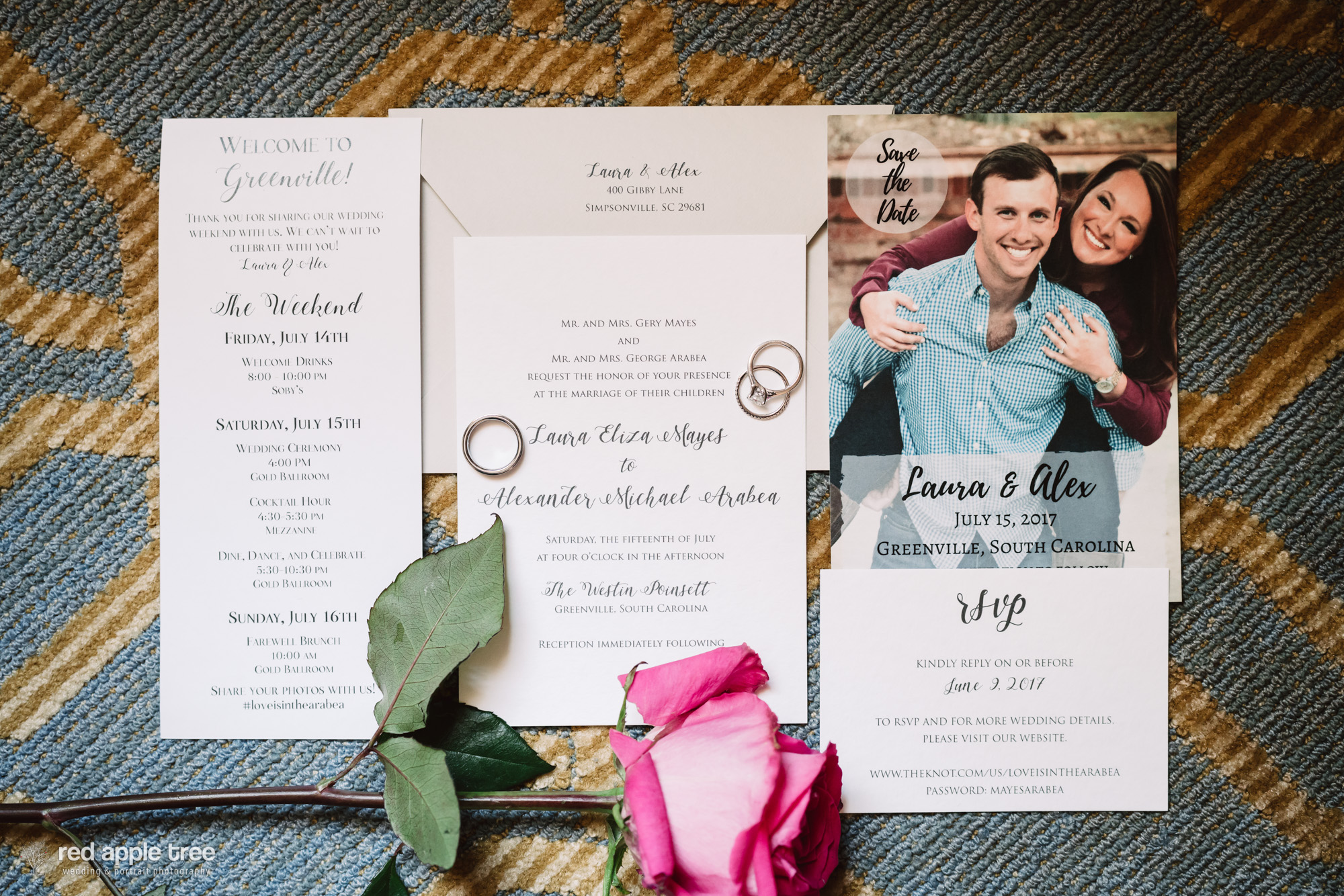 Love this wedding stationary layout! Formal, but FRESH!