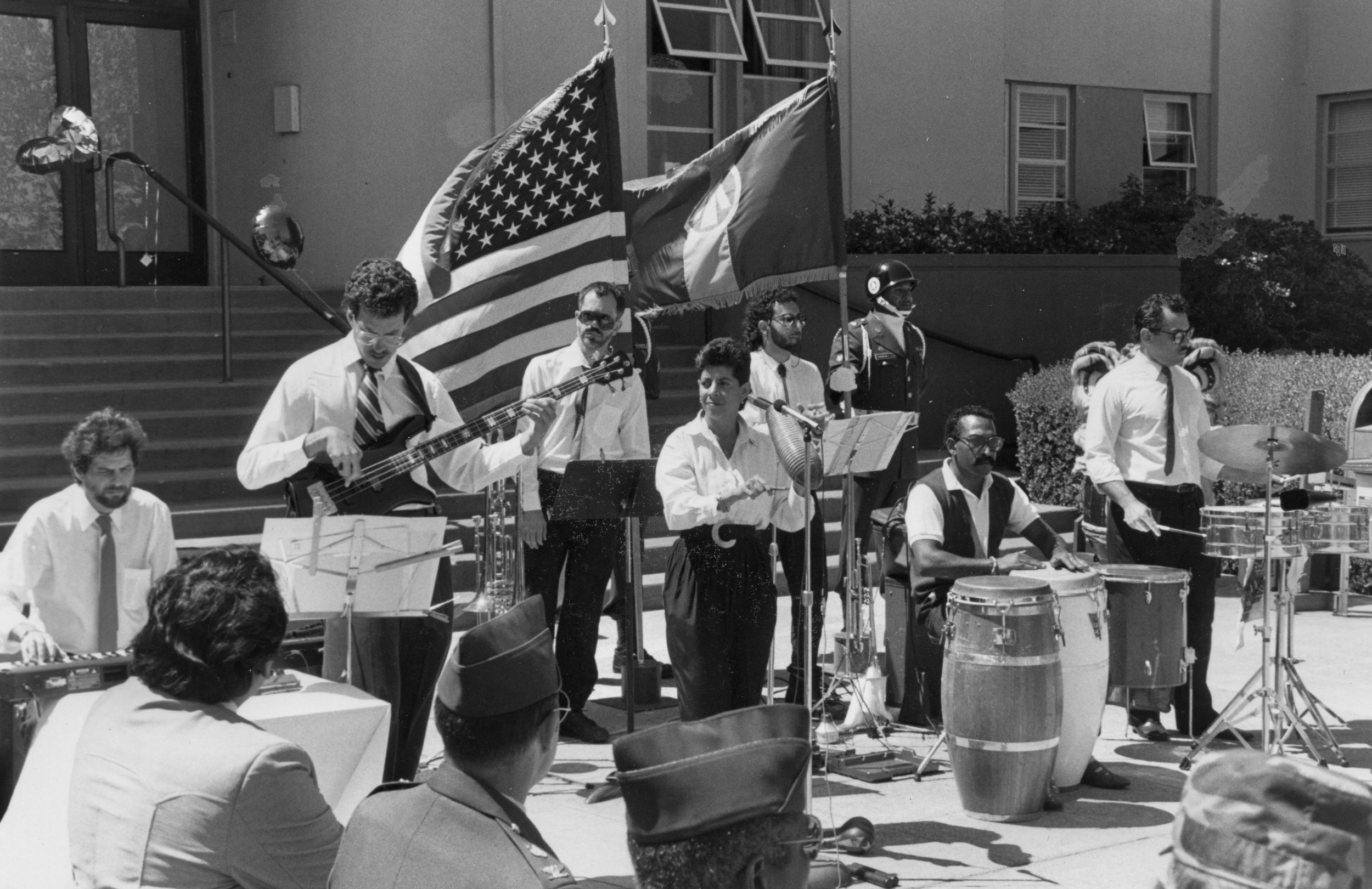 "Sinigual Plays ""Humanity Week"" at Oakland Army Base , 1990"