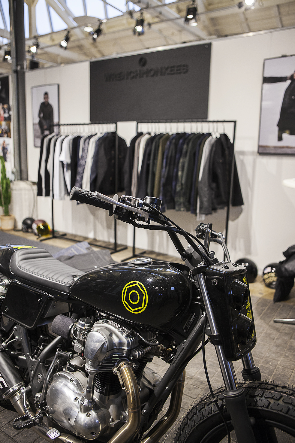 The Wrenchmonkees stand at Revolver Copenhagen Int. Fashion Trade Show during February 2017. The motorcycle is named MonoMonkee and is made specially for our AW17 collection.