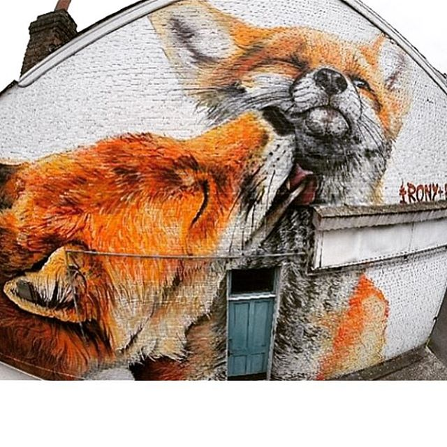 Foxes - @whoamirony & @placee_boe for the #woodstreetwalls project