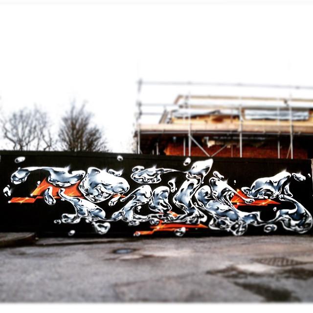 @Davebonzai on Ravenswood Industrial Estate for the #woodstreetwalls project #streetart #e17 #art #spray #london #walthamstow #awesomestow