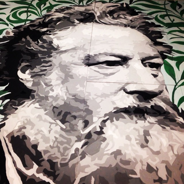 William Morris by ATMA for te #woodstreetwalls project - #streetart #art #london #mural