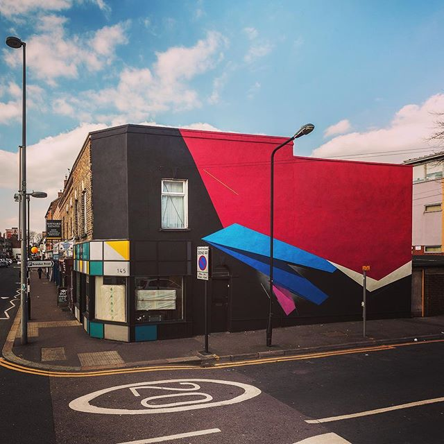 @remirough and his awesome wall on Wood Street, as part of Paint Your London. Photo courtesy of @hookedblog #streetart  #streetartlondon #e17 #walthamstow #giveartistsspace