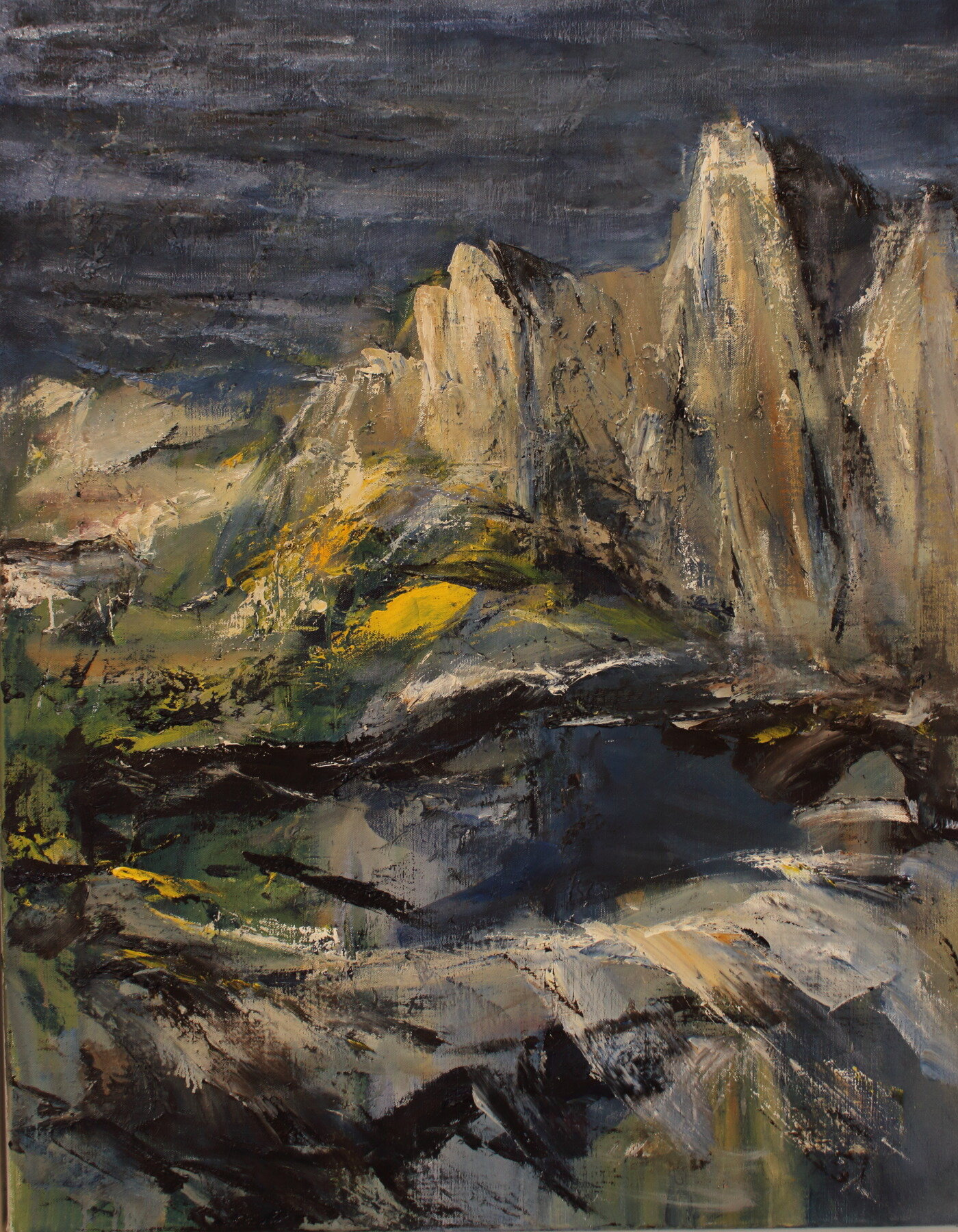 Sea and Cliffs 1   100cm x 80cm.JPG