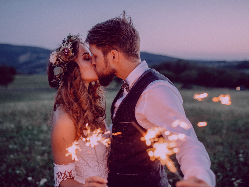 Sparklers are a fun way to capture amazing pictures on your wedding day.  Looking for fun ways to add flare to your big day?  Find unique ideas at dancingbrides.com
