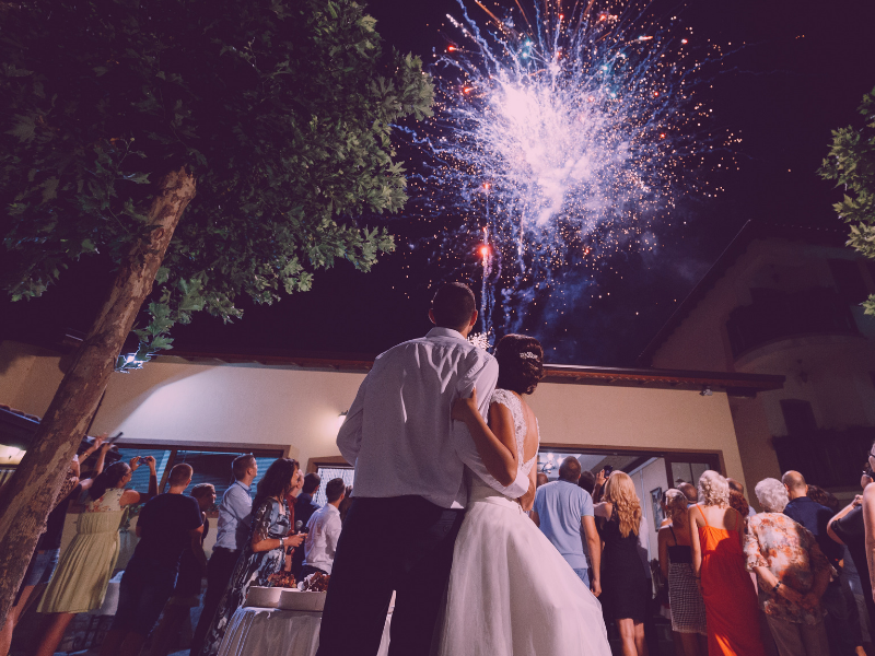 Lighting up the sky with a firework display is a great way to celebrate your wedding.  Looking for fun ways to add flare to your big day?  Find unique ideas at dancingbrides.com
