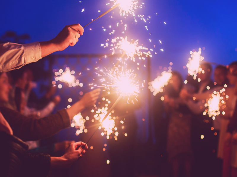 Sparklers are a magical way to end your evening during your grand exit.  Looking for fun ways to add flare to your big day?  Find unique ideas at dancingbrides.com