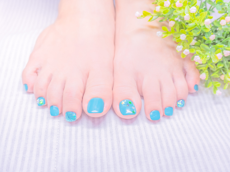 Looking for ideas for your something blue?  Having your toenails painted with blue nail polish is a fun way to incorporate your something blue in a subtle way.  Find more ideas at dancingbrides.com