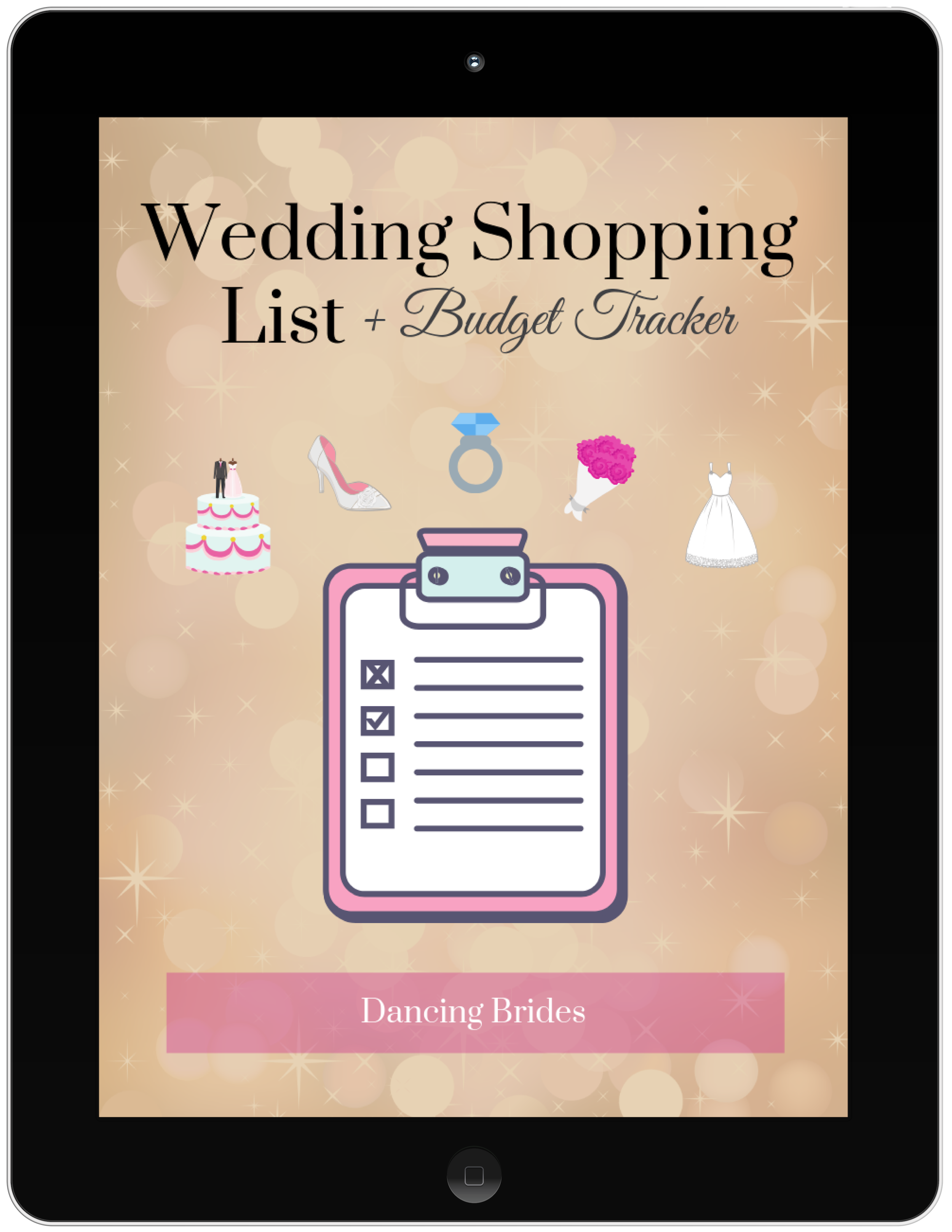 Get my FREE Wedding Shopping List and Budget Tracker so you can find everything you need for your big day and still stay within budget