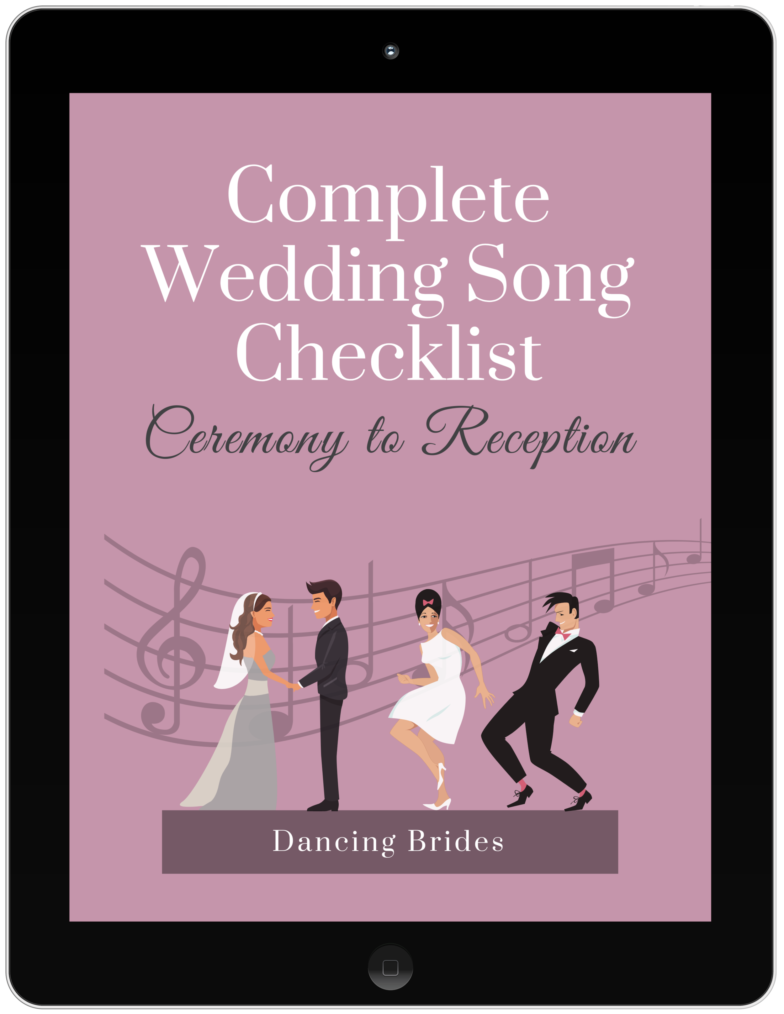 Looking for a way to keep track of all your wedding songs?  Grab the Complete Wedding Song Checklist at dancingbrides.com