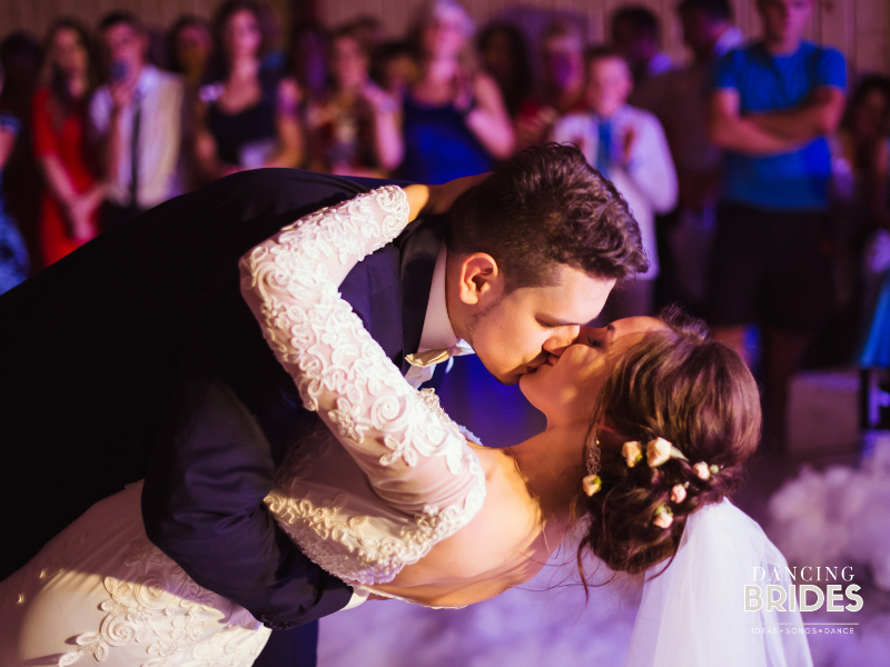 The partially choreographed dance is one of three options for your first dance as hubby and wife.  Find the right type of wedding dance for you at dancingbrides.com