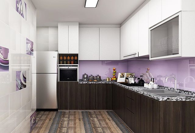 cafe style kitchen at the comfort of your own home! designed & coordinated by ⭐️ Fuaadi Project details: 5R, Resales. Woodlands Drive Speak to us now to get a free quote @ 9036 9300/enquiry@topone-interior.com. No obligation! ✌🏻 #singapore #interiordesign #resales #HDB
