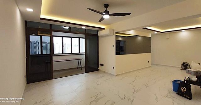 inspection day for one of our completing job site at sengkang. stay tune for more pictures & project details! 🙂 #interiordesign #sg #realpicture