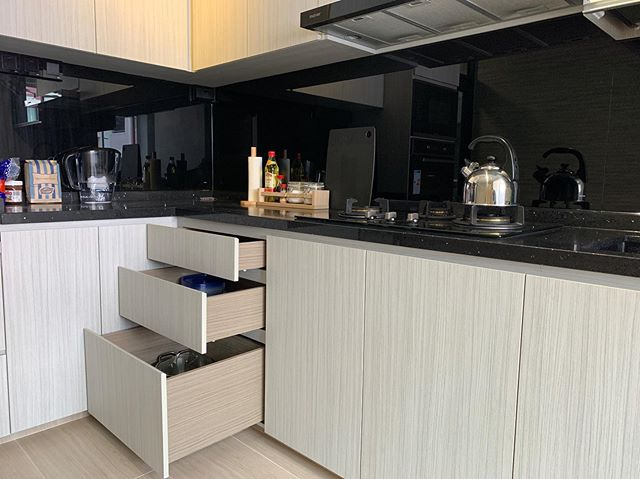 Revamped Kitchen [Part 2] designed & coordinated by ⭐️ Grace Project details: 5R, Resales Full Makeover @ Pasir Ris Speak to us now to get a free quote @ 9036 9300/enquiry@topone-interior.com. No obligation! ✌🏻 #singapore #interiordesign #resales #HDB #realpic