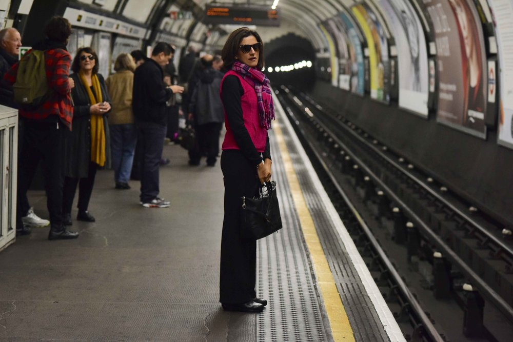 Me at the tube station, London Underground, U.K. Photo credit: Alizeh Latif.Image©thingstodot.com