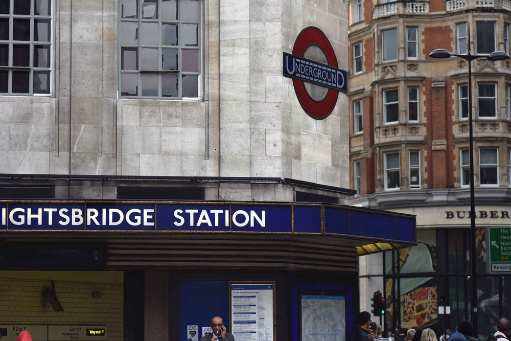 Knightsbridge Underground Station, Knightsbridge, London, U.K. Image©thingstodot.com