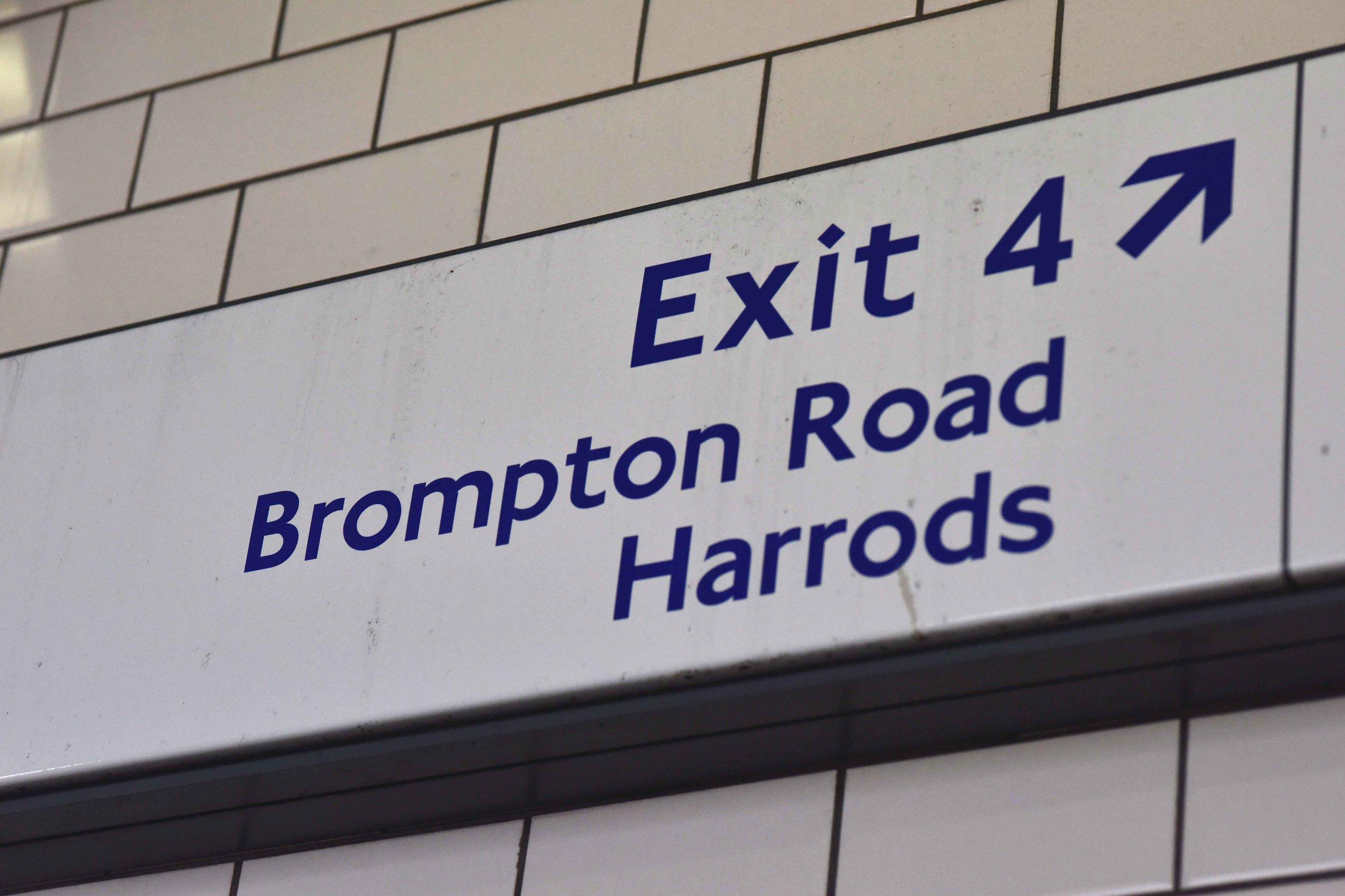Underground,Harrods, London. Image©thingstodot.com