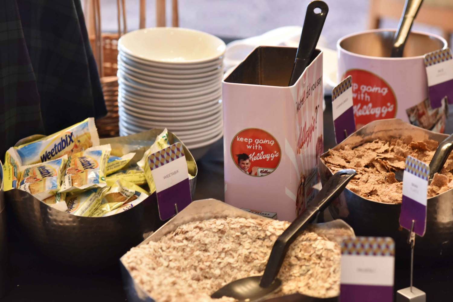 Cereal table, breakfast buffet, Mercure hotel, Inverness, Scotland. Image©thingstodot.com