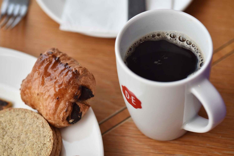 Coffee at breakfast buffet, Mercure hotel, Inverness, Scotland. Image©thingstodot.com