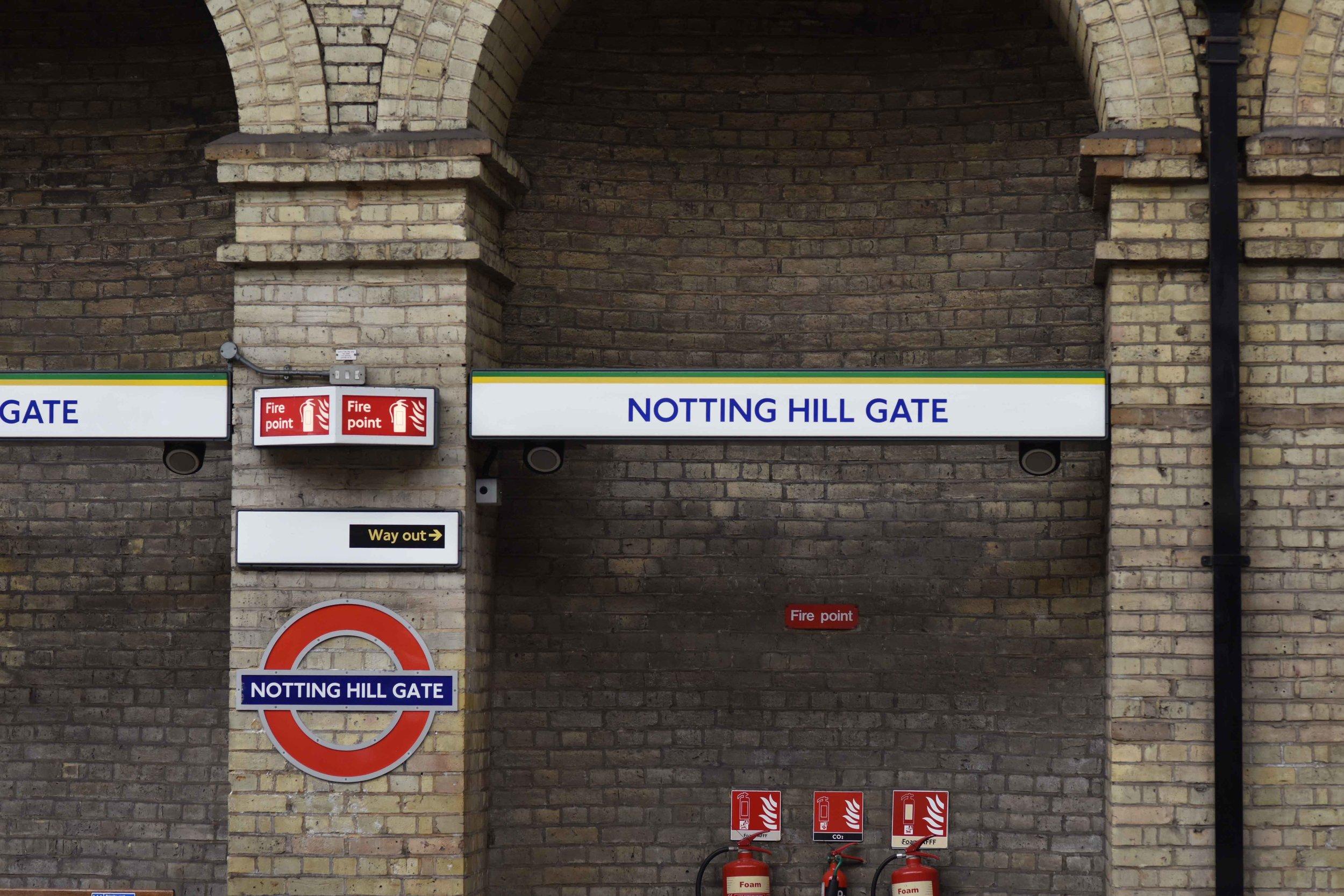Notting Hill Underground Station. Image©thingstodot.com