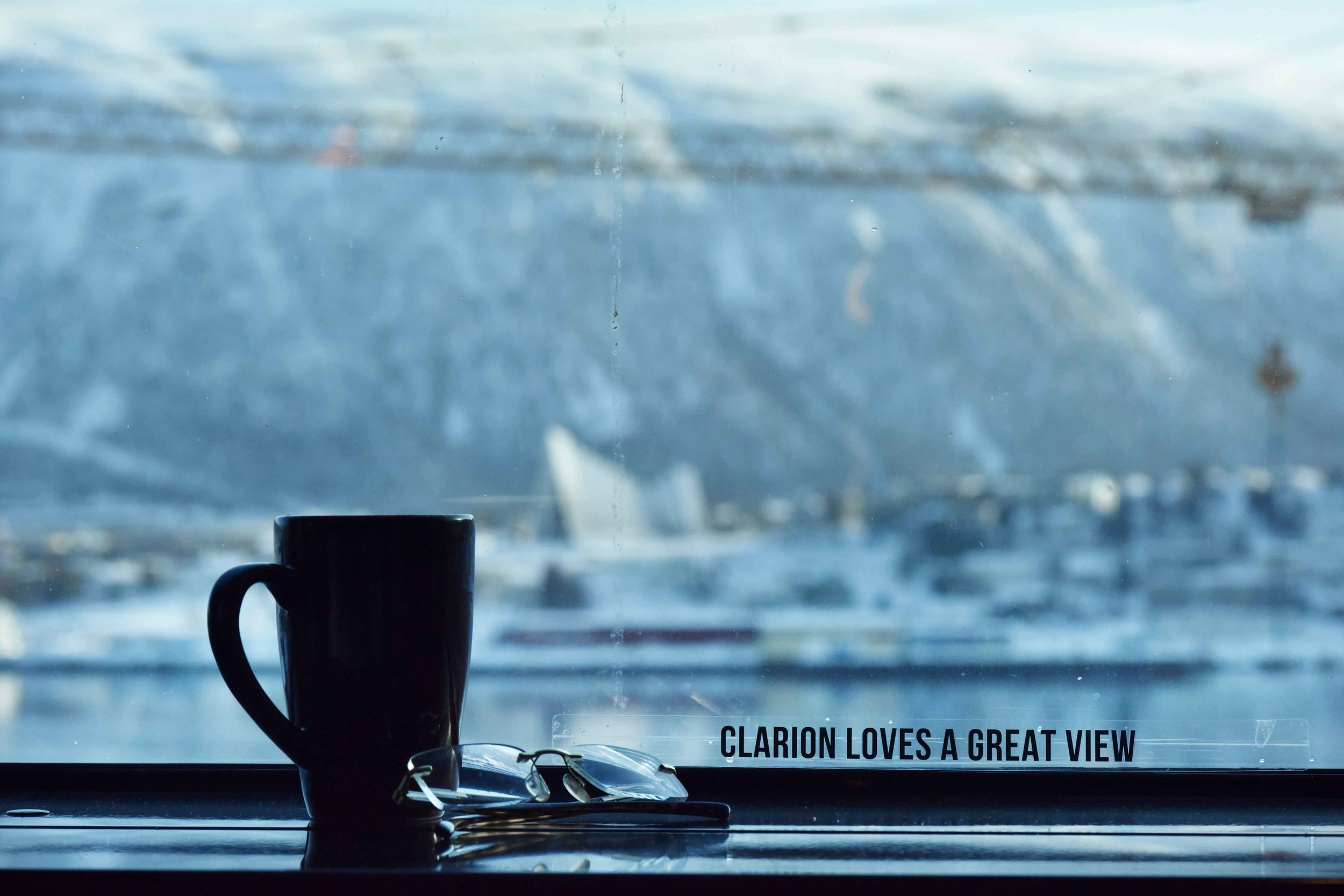Arctic views from the room,Clarion Hotel the Edge, Tromso, Norway.Image©thingstodot.com