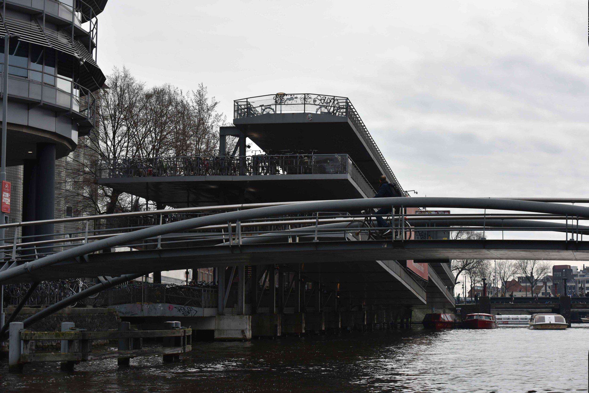 Parking at  Fietsflat , near Centraal Station, Amsterdam. Image©thingstodot.com
