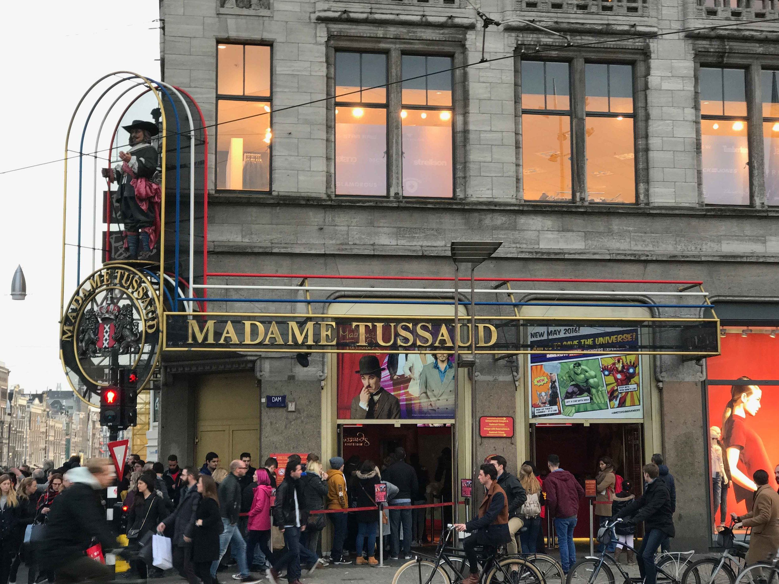 Madame Tussaud,Dam Square, Amsterdam. Photo: Gunjan Virk. Image©thingstodot.com