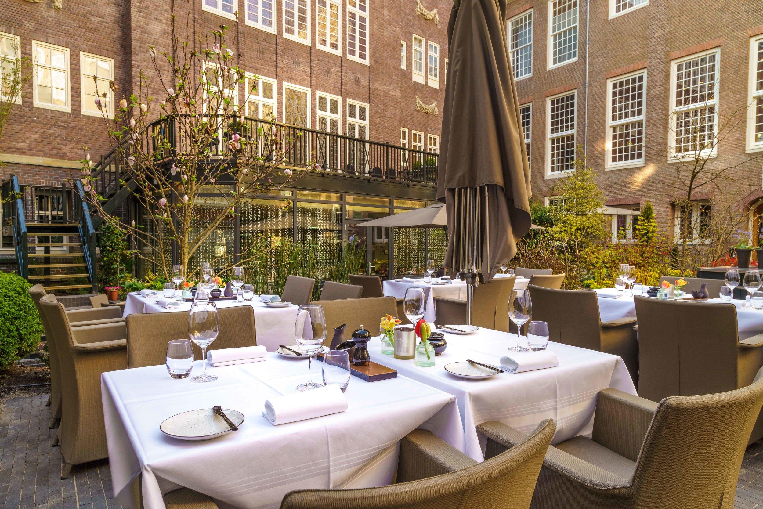 Garden Terrace Sofitel Legend Amsterdam The Grand. Photo: Sofitel Grand.