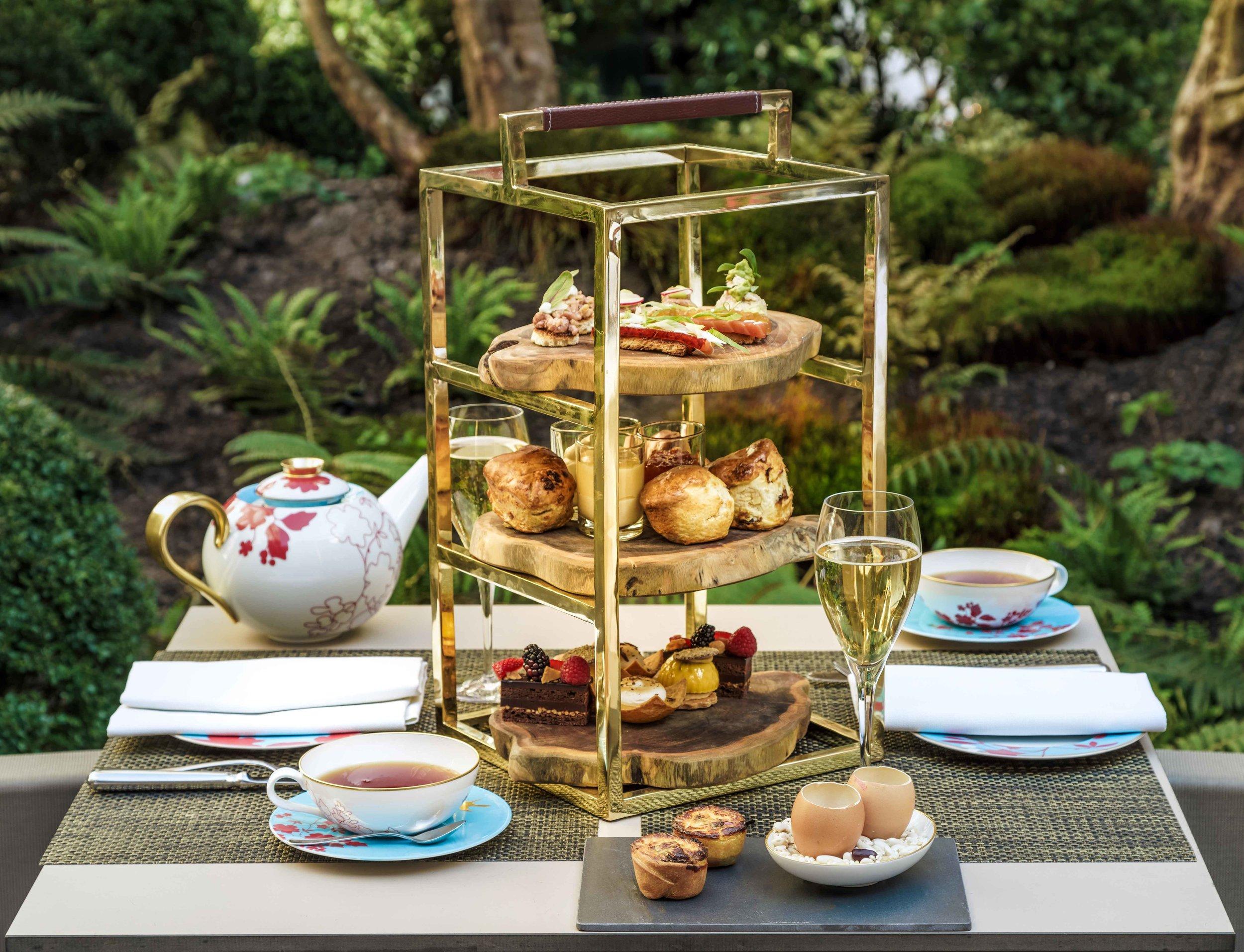 Afternoon Tea at garden terrace, Sofitel Legend Amsterdam The Grand. Photo: Sofitel Amsterdam