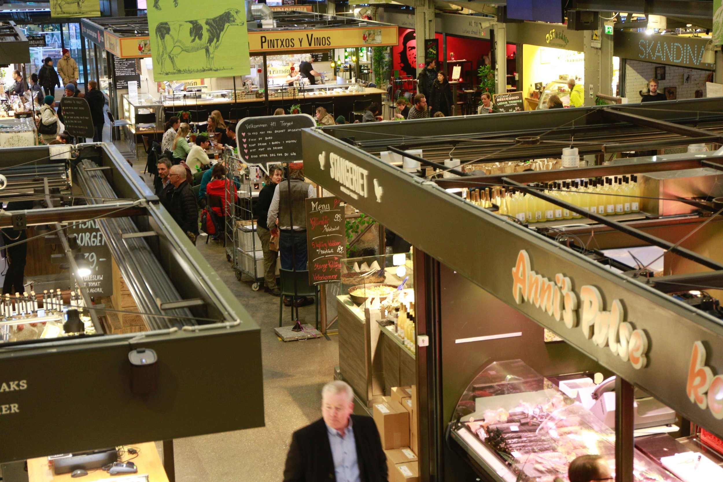 Mathallen, food court, Oslo, Norway. Photo: Oslo Photo Tour. Image©thingstodot.com