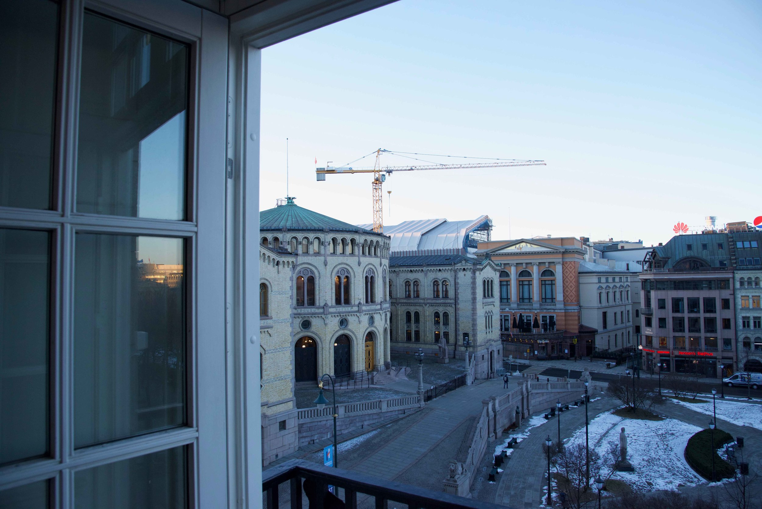 Superior double room, room with a view, Grand Hotel Oslo, Norway. Image©thingstodot.com