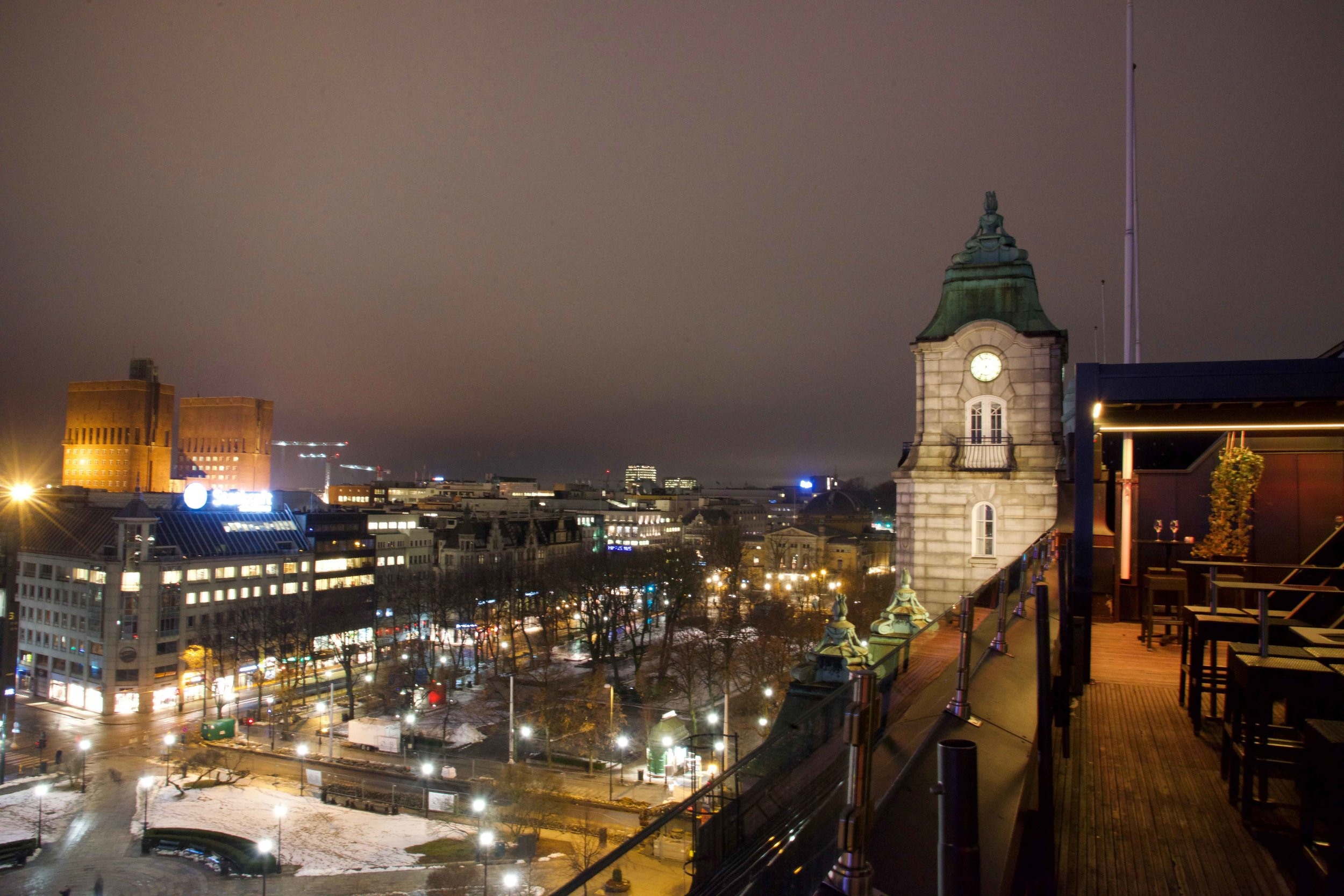 The Grand Hotel, Oslo, Norway, Eight, rooftop bar. Image©thingstodot.com