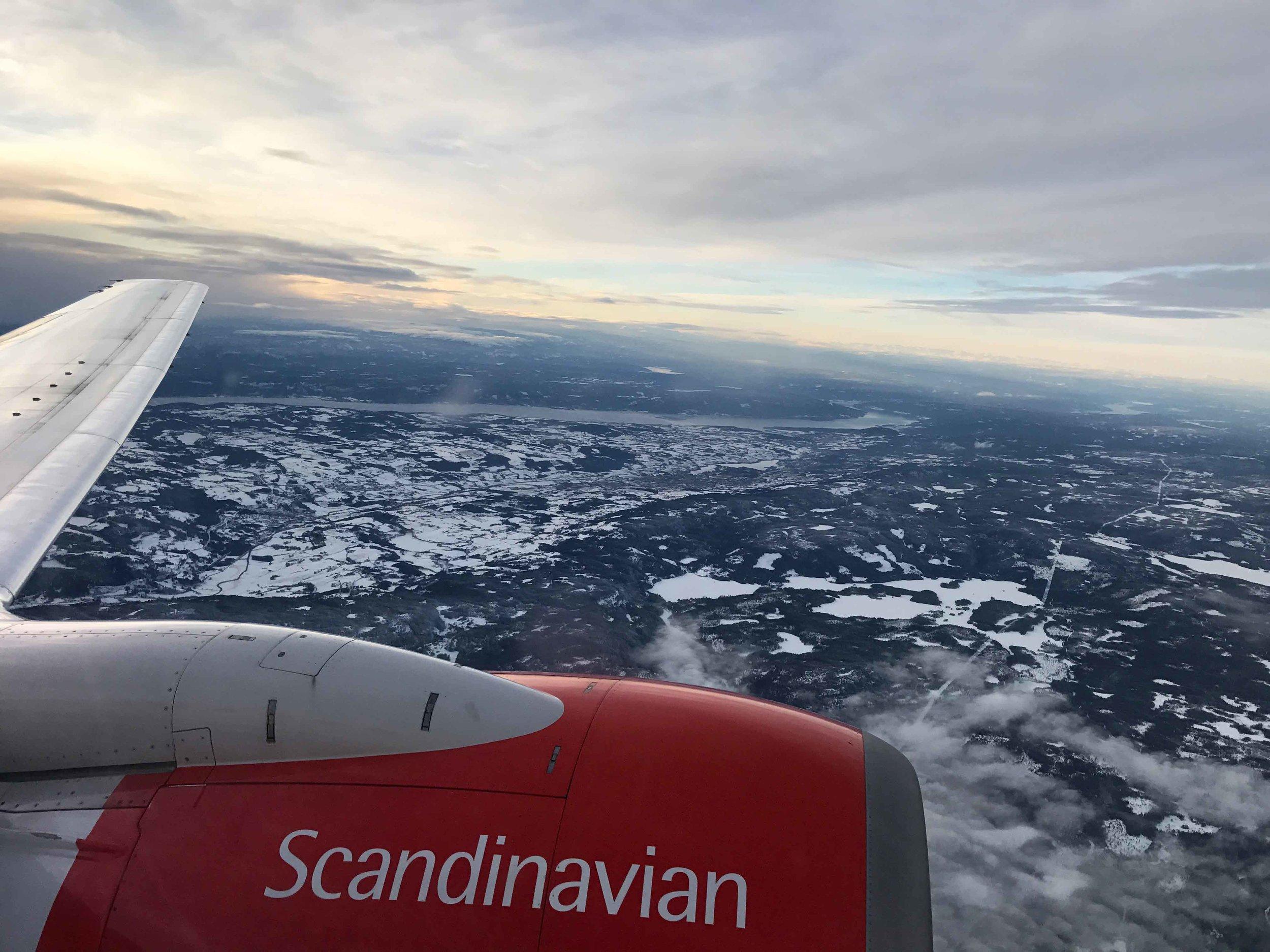 SAS flight, Oslo to Tromso,Norway. Image@thingstodot.com
