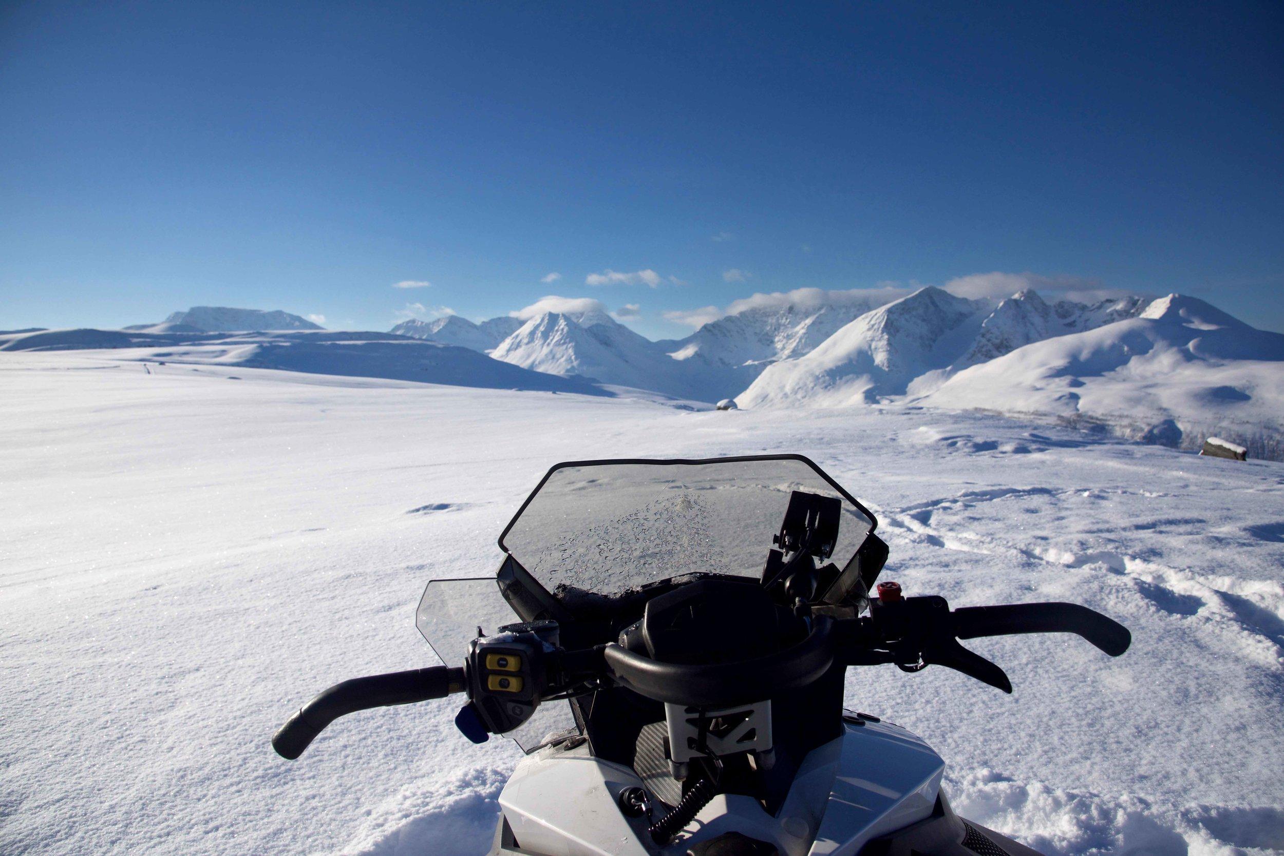 Snow mobile safari, Lyngen Alps, Arctic Circle, organized by Lyngen Lodge, Norway. Image©thingstodot.com
