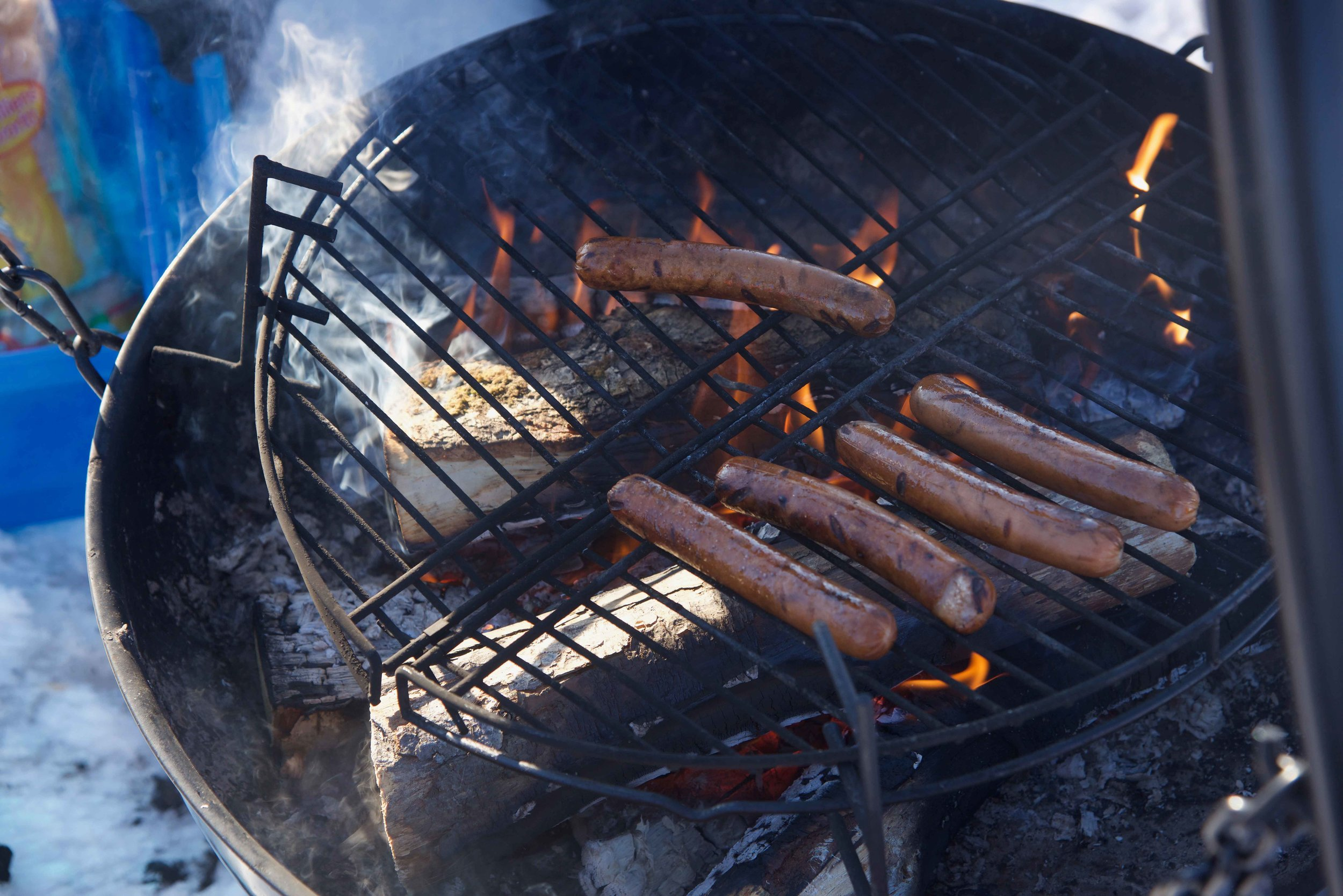 Sausage lunch, Arctic Circle, Norway. Image©thingstodot.com