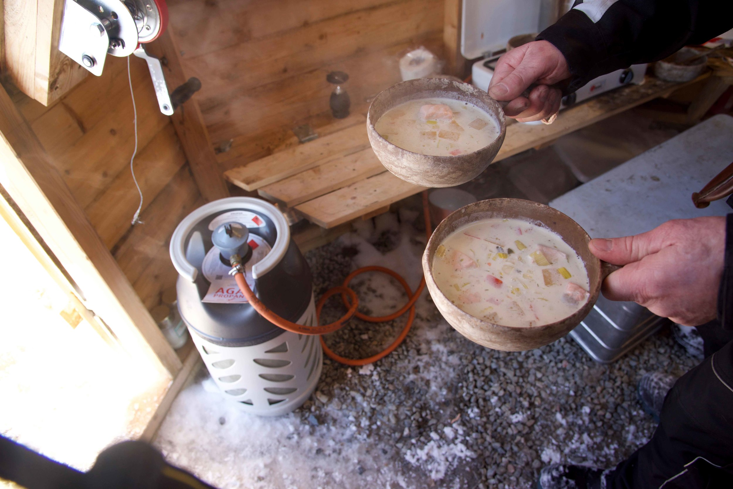 Salmon soup unch, Arctic Circle, Norway. Image©thingstodot.com
