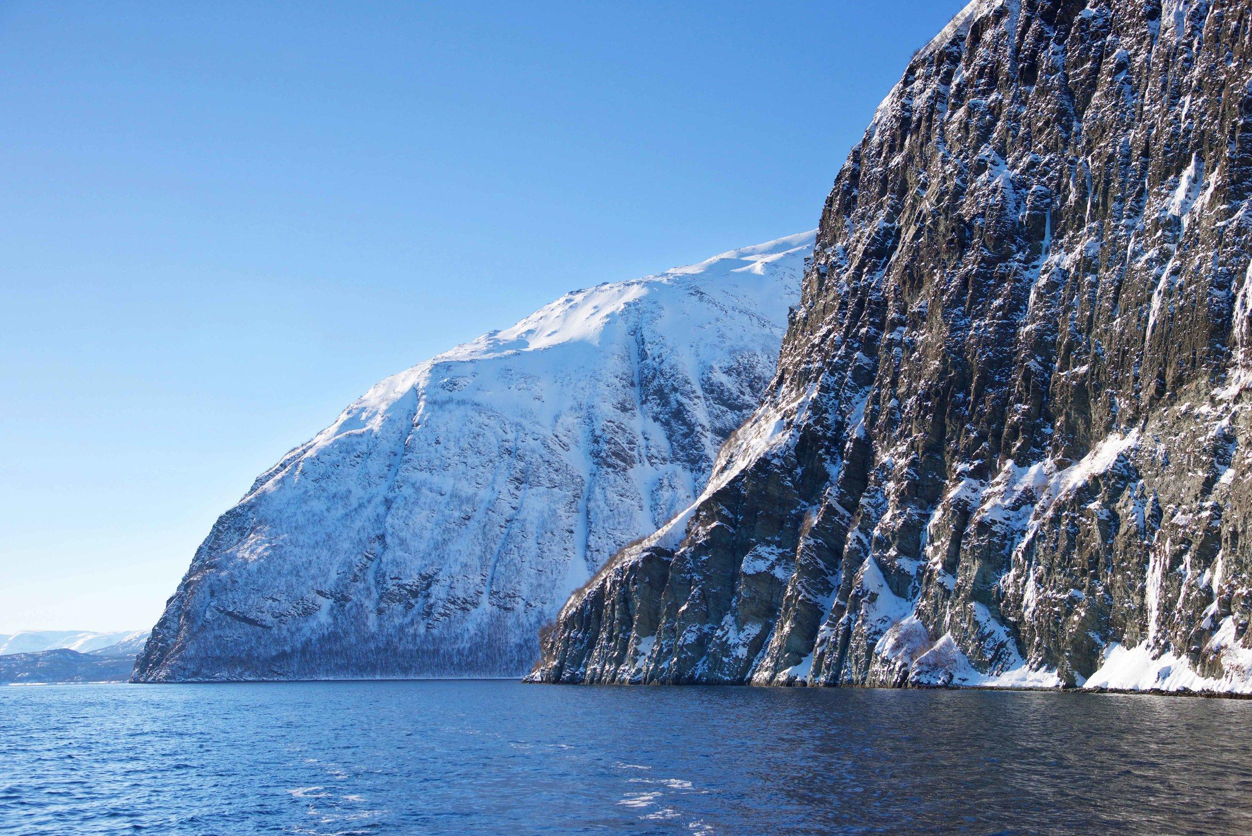Boat cruise, Lyngen fjords, organized by Lyngen Lodge, Arctic Circle, Norway.Image©thingstodot.com