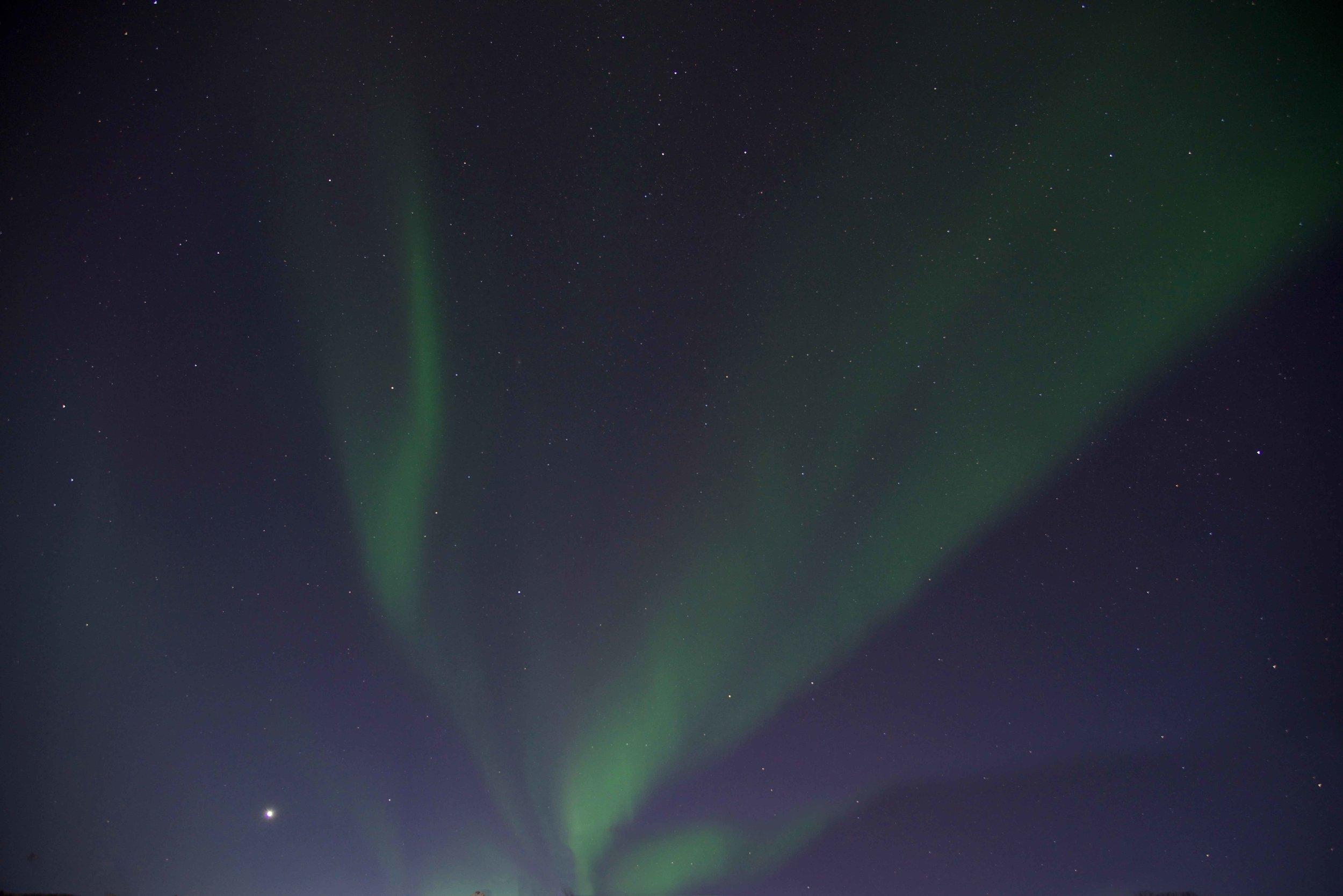Northern lights, aurora borealis,Lyngen Lodge, northern Norway. Image©thingstodot.com