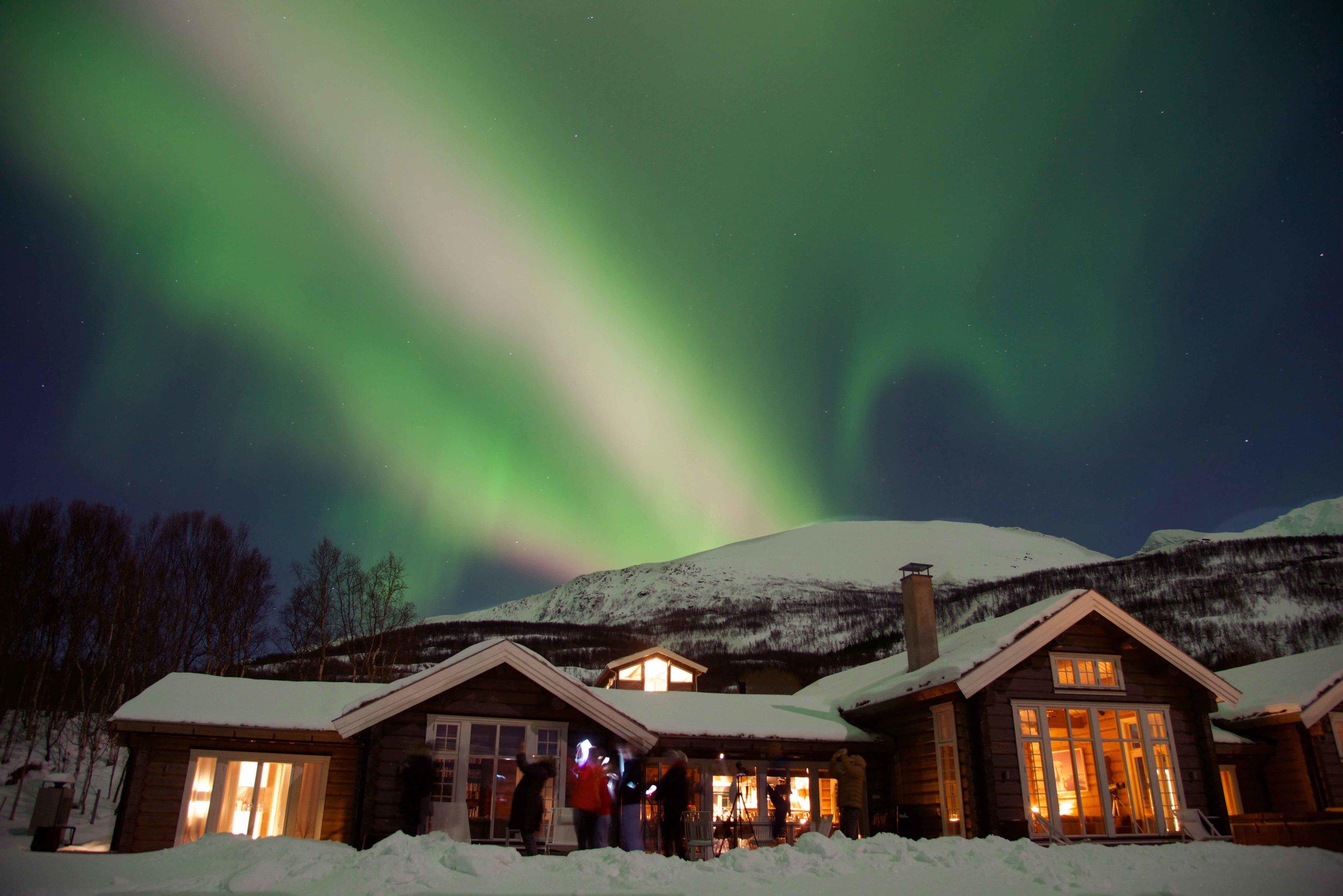 Northern Lights, Aurora Borealis,Lyngen Lodge, Norway. Image©thingstodot.com