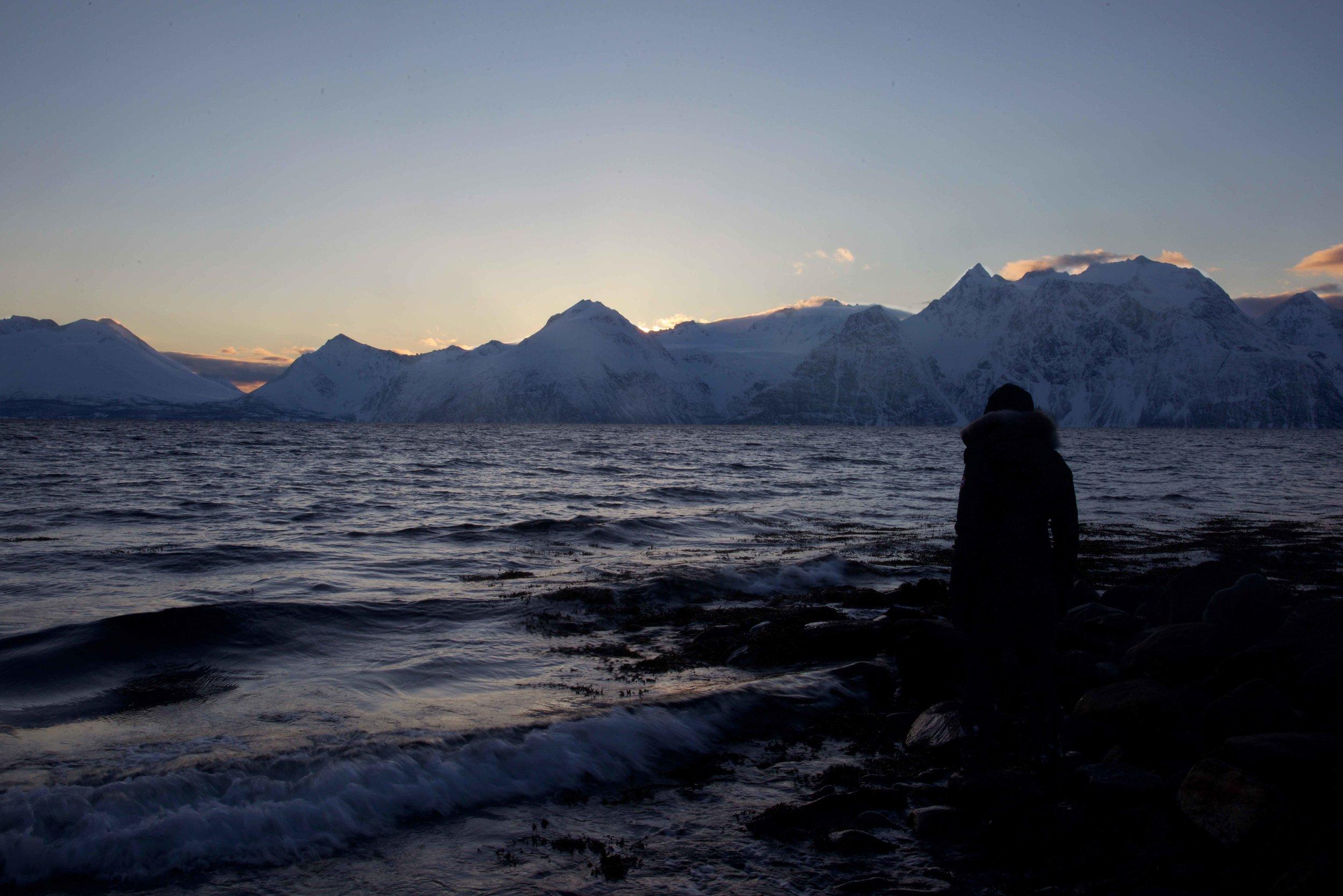 Arctic scenery, Lyngen Alps, Norwegian fjords, Lyngen Lodge, Arctic Circle, Norway. Image©thingstodot.com