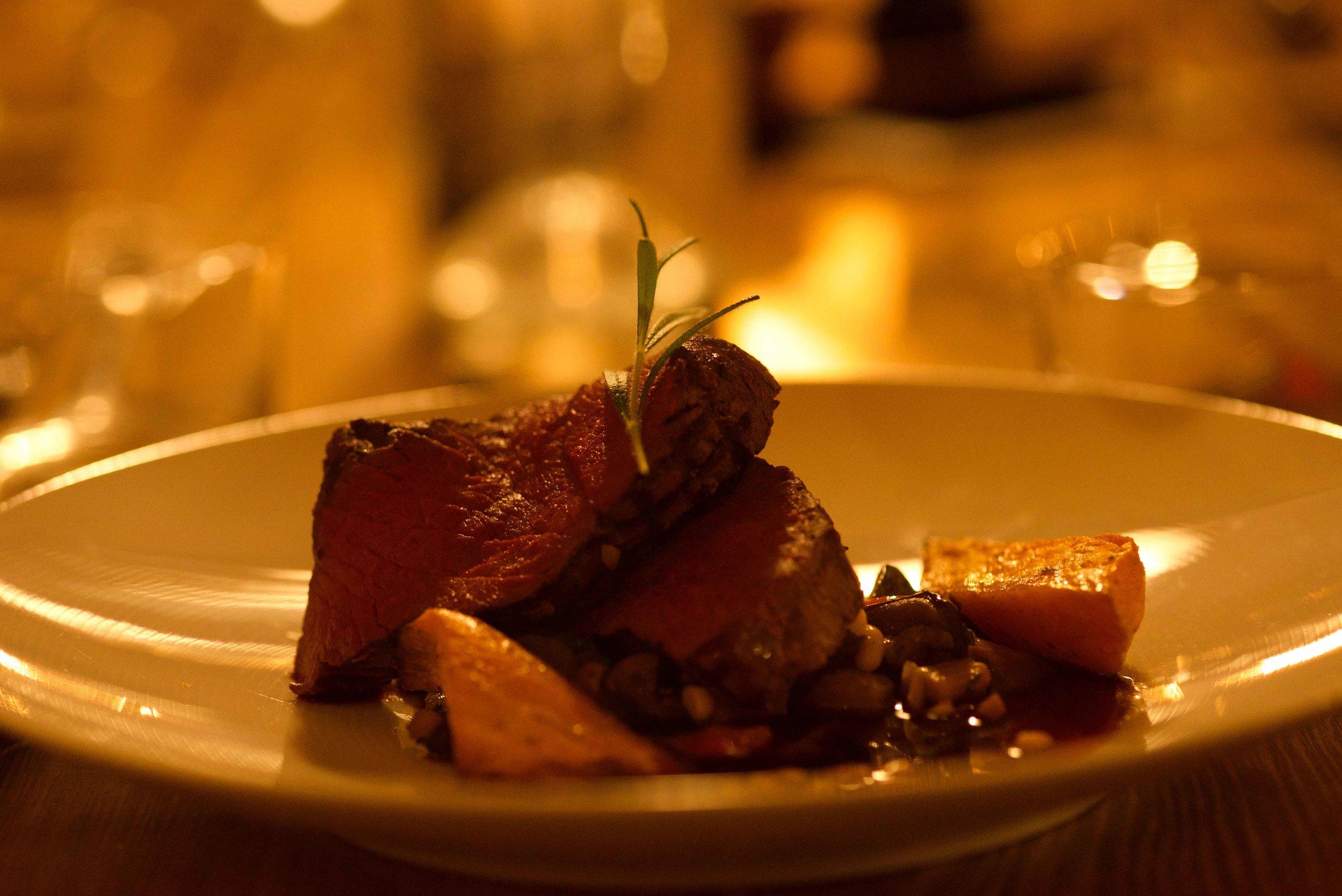 Reindeer meat,Lyngen Lodge, Arctic Circle, Norway. Image@thingstodot.com