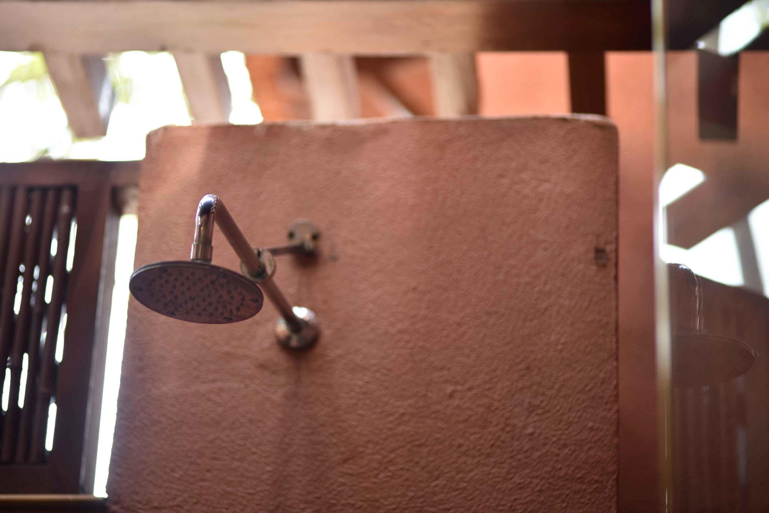 Outside shower,Park Hyatt, Goa, India, beach resort, luxury spa resort. Image©thingstodot.com