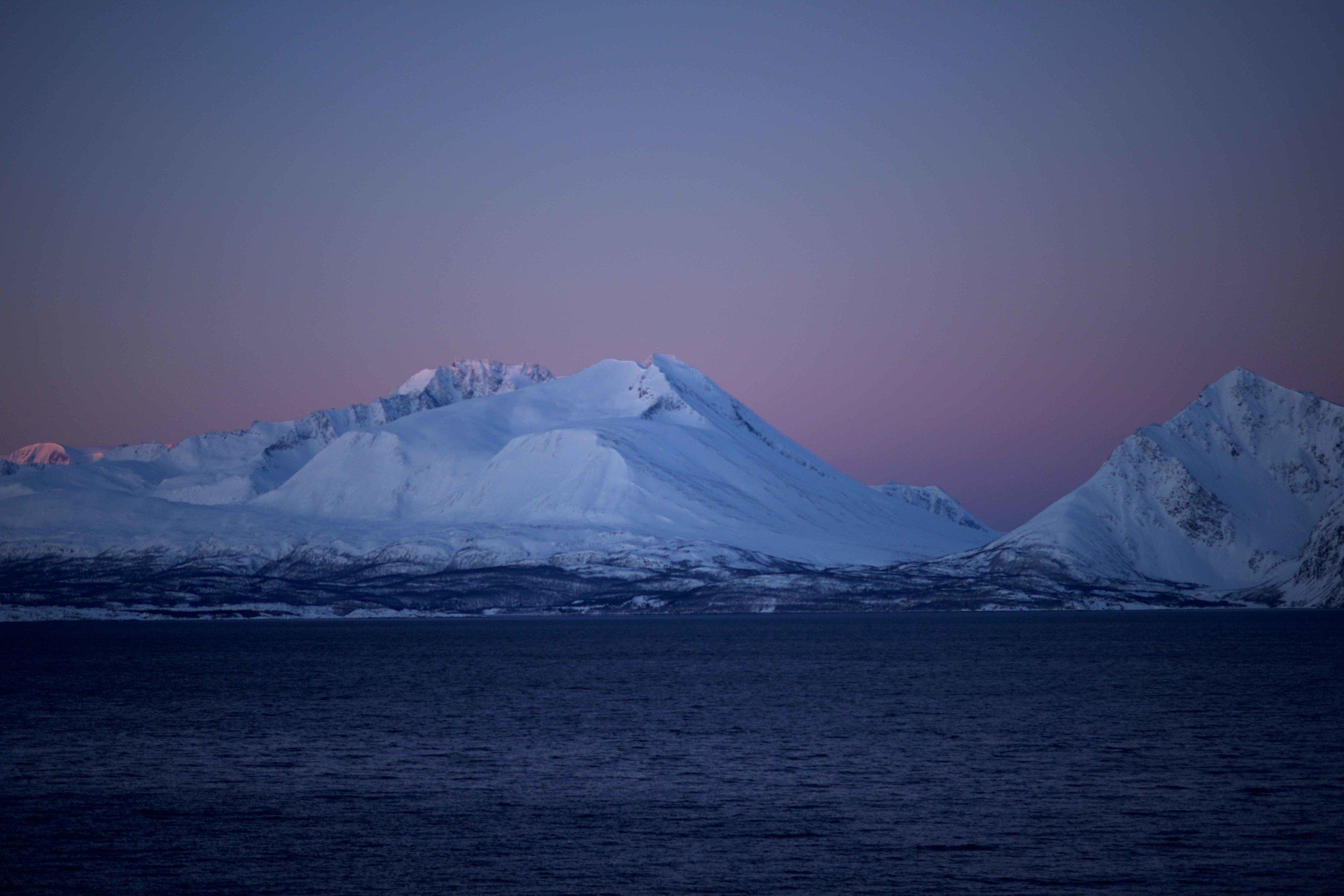 Sunrise on Lyngen fjords,Arctic Circle, Norway. Image©thingstodot.com