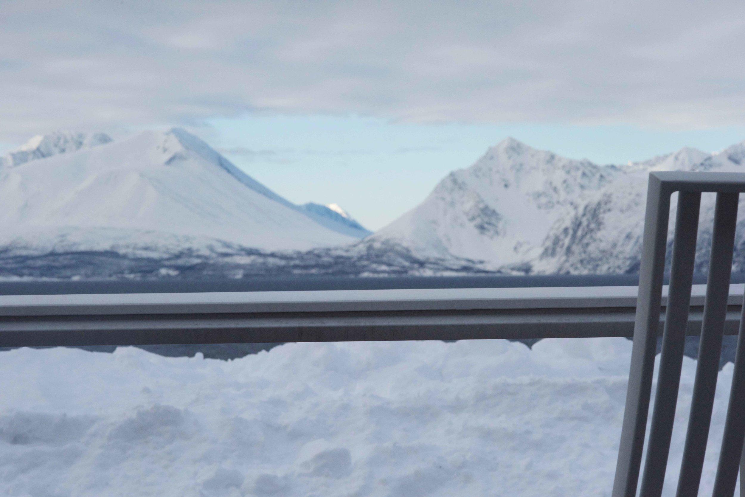 Views from Lyngen Lodge, Arctic Circle, Norway. Image@thingstodot.com