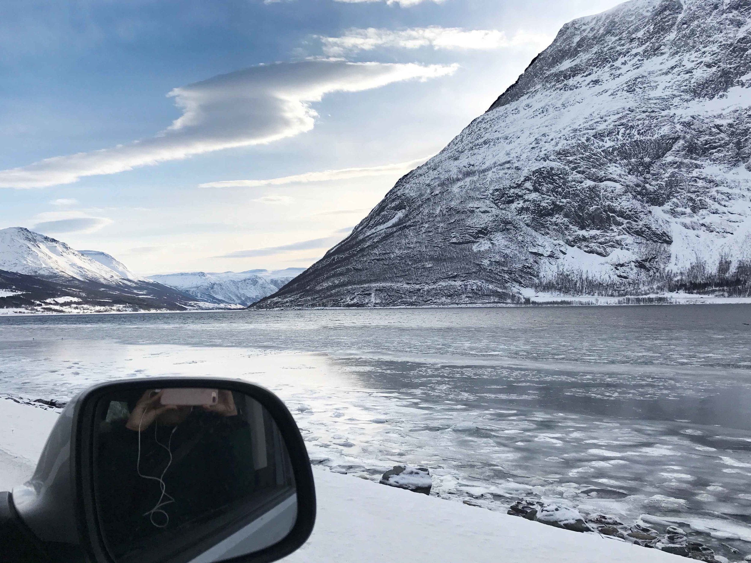 Driving through the fjords in Norway, Arctic Circle. Image©thingstodot.com