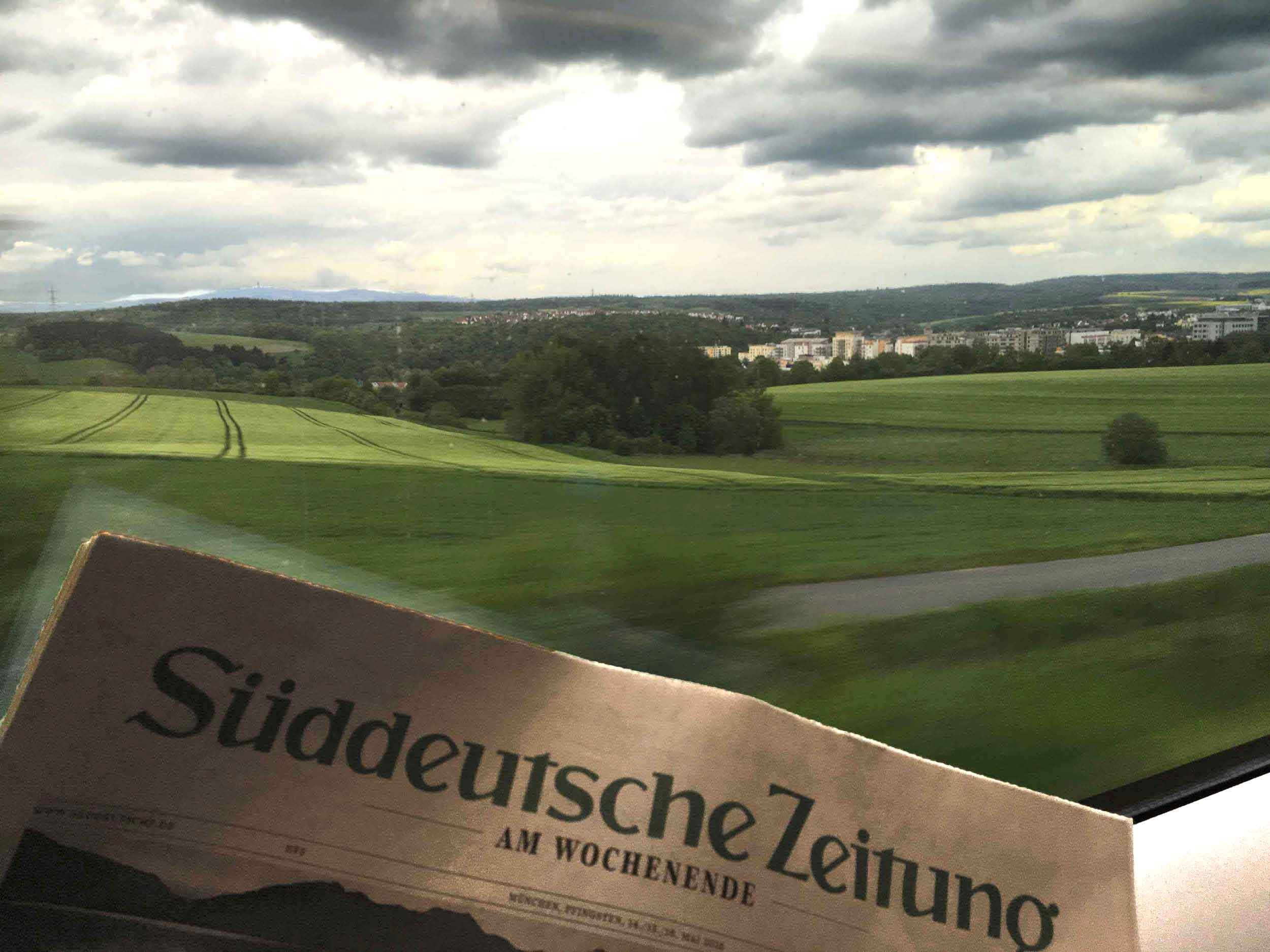 Scenic landscapes,ICE, Inter City Express, First Class, German Rail. Image©thingstodot.com