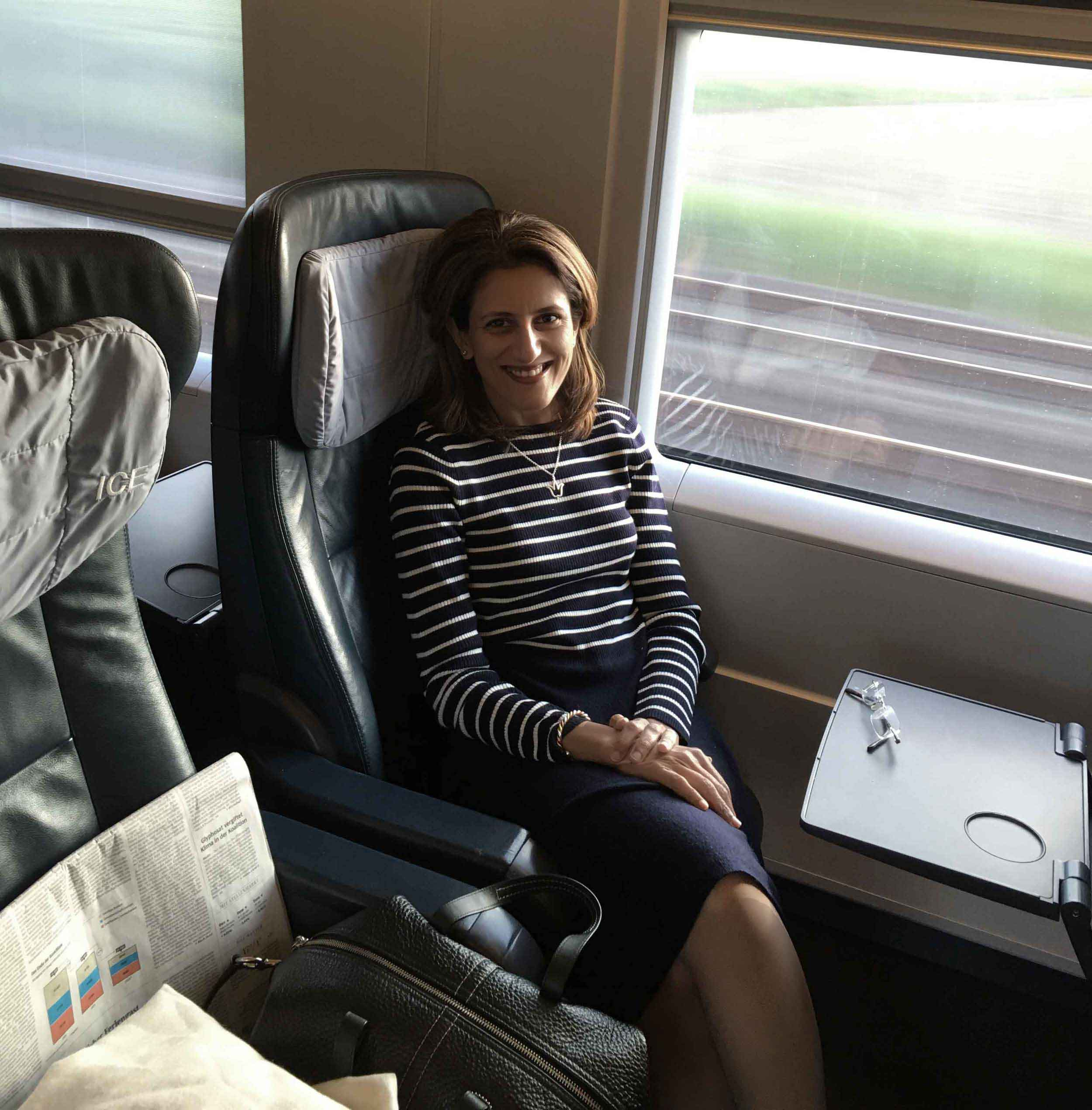 ICE, Inter City Express, First Class, German Rail. Image©thingstodot.com
