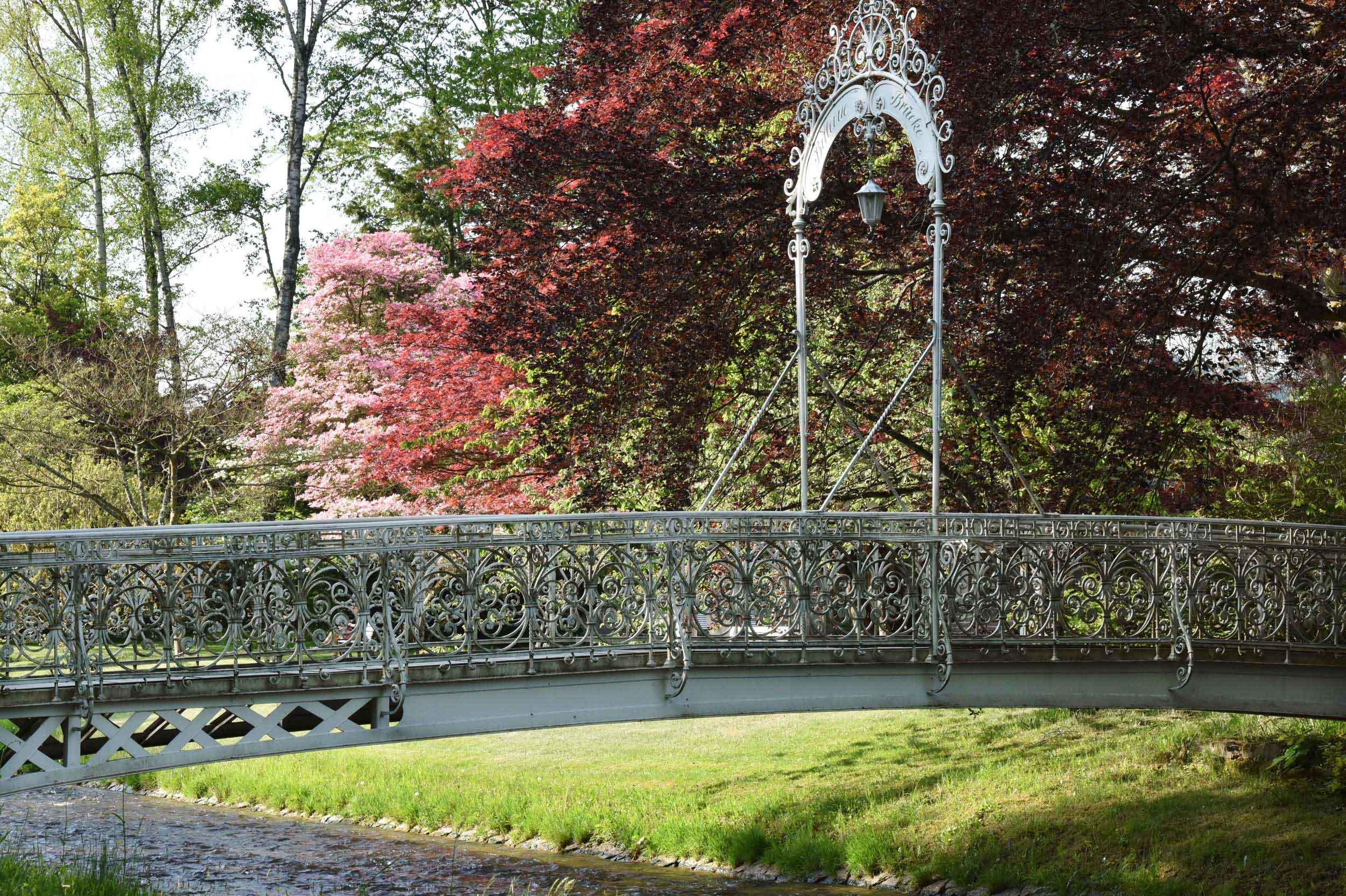 Oos river, Bellevue Brücke, Lichtentaler Allee,Baden Baden, Germany. Image©thingstodot.com