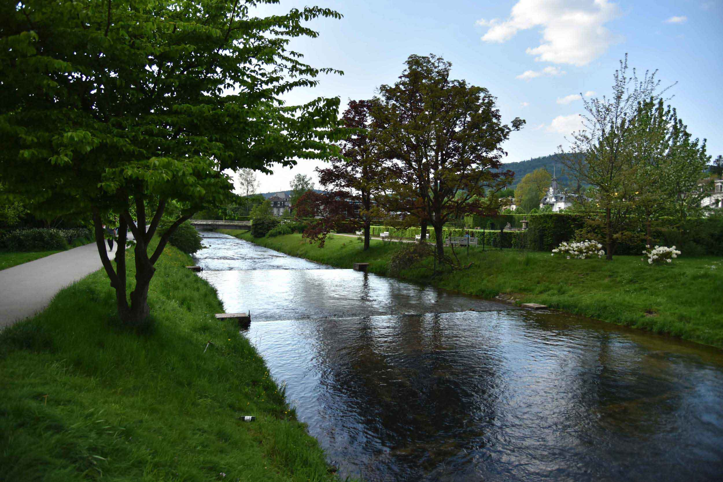 Oos river, Lichtentaler Allee, Baden Baden, Germany. Image©thingstodot.com